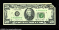 Error Notes:Foldovers, Fr. 2074-B $20 1981A Federal Reserve Note, Gem Crisp ...