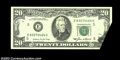 Error Notes:Foldovers, Fr. 2075-E $20 1985 Federal Reserve Note. Extremely Fine. ...