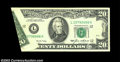Error Notes:Foldovers, Fr. 2075-L $20 1985 Federal Reserve Note. Extremely Fine.
