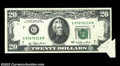 Error Notes:Attached Tabs, Fr. 2072-G $20 1977 Federal Reserve Note. Extremely Fine.