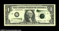 Error Notes:Ink Smears, Fr. 1912-J $1 1981A Federal Reserve Note. Choice About ...