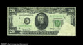 Error Notes:Obstruction Errors, Fr. 2059-D $20 1950 Federal Reserve Note, About Uncirculated....