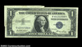 Error Notes:Error Group Lots, Fr. Fr. 1614 $1 1935E Silver Certificates, Fine and About ... (2notes)