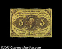 Fr. 1228 5c First Issue Gem New. Deeply and fully perforated, with ideal color and perfect paper surfaces. This little j...