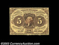 Fractional Currency:First Issue, Fr. 1229 5c First Issue Choice New. This is the rarer ...