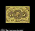 Fractional Currency:First Issue, Fr. 1230 5c First Issue Superb Gem New. Huge margins, ...