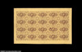 Fractional Currency:First Issue, Fr. 1230 5c First Issue Complete Sheet of 20 Extremely Fine.