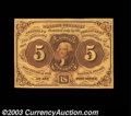 Fractional Currency:First Issue, Fr. 1231 5c First Issue Gem New. Previously Lot 67 from ...