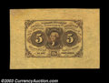Fractional Currency:First Issue, Fr. 1231SP 5c First Issue Face Only Gem New. Broadly ...