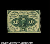 Fr. 1240 10c First Issue Very Choice New. The back is a little off center and the top margin somewhat tight, but this fu...