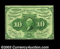 Fractional Currency:First Issue, Fr. 1240 10c First Issue Very Choice New. Deep, full ...