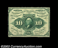 Fr. 1240 10c First Issue Very Choice New. Full perforations all the way around, perfect color and ideal centering all co...