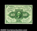 Fractional Currency:First Issue, Fr. 1241 10c First Issue Very Choice New. Fully perforated ...