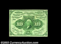 Fractional Currency:First Issue, Fr. 1242 10c First Issue Very Choice New. Quite close to ...