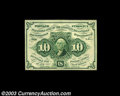 Fractional Currency:First Issue, Fr. 1243 10c First Issue Gem New. Beautifully margined, ...