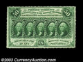 Fr. 1310 50c First Issue Gem New. Deeply perforated all the way around, with good even margins and super eye appeal. Per...