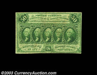 Complete First Issue 50c Set. Fr. 1310 New but with bad rust and a tear, Fr. 1311 Extremely Fine but with paper peel