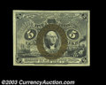 Fr. 1233 5c Second Issue Very Choice New. A boldly colored, broadly margined example that comes quite close to the full...