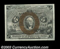 Fr. 1233 Second Issue Very Choice New. Just a hair of top margin away from the Superb grade. The note has three huge fac...