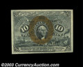 Fractional Currency:Second Issue, Fr. 1244 10c Second Issue Very Choice New. The back is ...