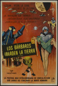 "Movie Posters:Science Fiction, The Mysterians (RKO, 1959). Argentinean Poster (29"" X 43""). ScienceFiction...."