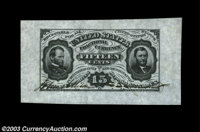 Fr. 1275SP 15c Third Issue Wide Margin Pair Gem New. A beautiful pair from our 1995 sale of the Gengerke Collection, whe...
