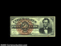 Fr. 1374 50c Fourth Issue Lincoln About New. The bottom margin is unusually broad, which in this case allows the entire...
