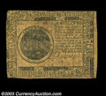 Colonial Notes:Continental Congress Issues, Continental Currency May 10, 1775 $7 Fine. A well-printed, ...