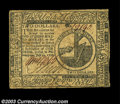 Colonial Notes:Continental Congress Issues, Continental Currency July 22, 1776 $2 Extremely Fine. A ...