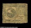 Colonial Notes:Continental Congress Issues, Continental Currency July 22, 1776 $6 Fine-Very Fine. We'...