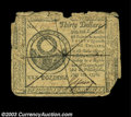 Colonial Notes:Continental Congress Issues, Continental Currency July 22, 1776 $30 Counterfeit Very Fine ...