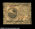 Colonial Notes:Continental Congress Issues, Continental Currency May 20, 1777 $6 Very Choice New. ...