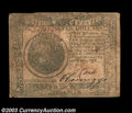 Colonial Notes:Continental Congress Issues, Continental Currency September 26, 1778 $7 Very Fine. A ...