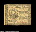 Colonial Notes:Continental Congress Issues, Continental Currency September 26, 1778 $30 Gem New. A ...