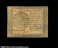 Colonial Notes:Continental Congress Issues, Continental Currency September 26, 1778 $40 Gem New. A ...