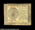 Colonial Notes:Continental Congress Issues, Continental Currency September 26, 1778 $40 Very Choice New.