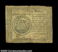 Colonial Notes:Continental Congress Issues, Continental Currency September 26, 1778 $50 Fine. A nice ...