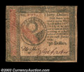 Colonial Notes:Continental Congress Issues, Continental Currency January 14, 1779 $30 Extremely Fine. ...