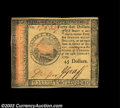 Colonial Notes:Continental Congress Issues, Continental Currency January 14, 1779 $45 Very Choice New. ...