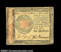 Colonial Notes:Continental Congress Issues, Continental Currency January 14, 1779 $60 About New. One ...