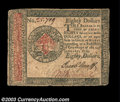 Colonial Notes:Continental Congress Issues, Continental Currency January 14, 1779 $80 Very Fine-...