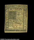Colonial Notes:Delaware, Delaware 5s January 1, 1776 Extremely Fine. Unusually well ...