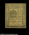 Colonial Notes:Delaware, Delaware May 1, 1777 5s Extremely Fine. A beautifully ...