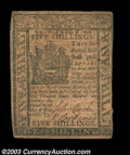 Colonial Notes:Delaware, Delaware May 1, 1777 5s Very Fine. A much scarcer issue, ...