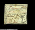 Colonial Notes:Georgia, Georgia September 10, 1777 $6 Choice Extremely Fine. A ...