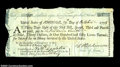 Colonial Notes:Maryland, Continental Loan Office First of Exchange. This green-...