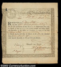 Colonial Notes:Massachusetts, Massachusetts Bay Bond Issued to Mary Little. Very Fine
