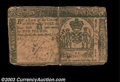 Colonial Notes:New York, New York April 20, 1756 L5. The center split is repaired ...