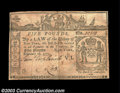 Colonial Notes:New York, New York February 16, 1771 L5 Very Fine. There is some ...