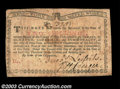 Colonial Notes:New York, New York August 25, 1774 2s Choice Very Fine. A problem-...
